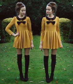 bows mustard n black ! yes please!