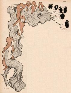 Jugend magazine illustration by J.R. Witzel, 1901