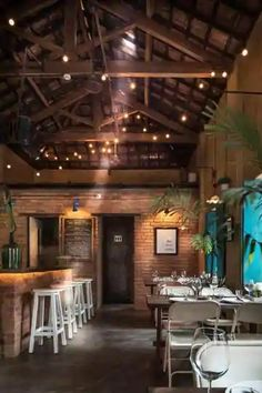 Roof Design, Ceiling Design, Tile Design, Decorating Blogs, Interior Decorating, Brick Cafe, Best Interior Design Blogs, Rice Mill, Cafe Bar