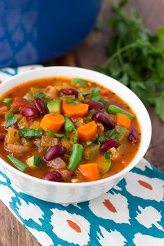 Minestrone soup is as flavorful as any I've eaten at a restaurant! It is full of fresh vegetables and herbs with amazing depth of flavor.