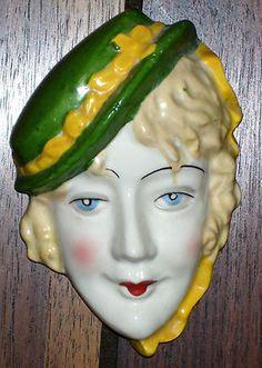 Art Deco Vintage Lady Head Wall Mask Plaque | eBay