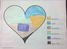 feelings heart completed What Feelings Are In Your Heart: An Art Therapy Exercise for Kids