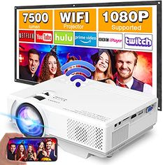 Amazon has the Projector with WiFi, Upgrade 7500L [100″ Projector Screen Included] Mini Projector for Outdoor Movies, Supports 1080P Synchronize Smartphone Screen by WiFi/USB Cable for Home Entertainment marked down from $89.99 to $53.99. That is $36 off retail price! TO GET THIS DEAL: GO HERE to go to the product page and click on…