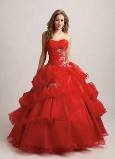 Vestido Vermelho Para Festa de 15 Anos [20]