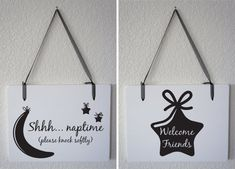 Adorable for a baby's nursery or the front door when your baby is sleeping. 1 doublesided Sign  Shhh Naptime please knock by Frameyourstory