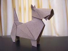 This is soooo awesome: Origami Scottish Terrier by ArturoEduardo