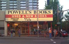 Powell's Books in Portland - Largest independent bookstore in the world.