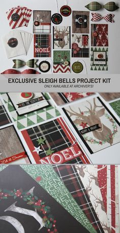 Get supplies to make a bunch of great holiday projects with Archiver's exclusive Sleigh Bells project kit. Only available at Archiver's while supplies last!