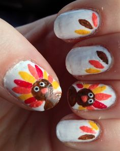 Turkey Nails by LiveLaugh1212 from Nail Art Gallery