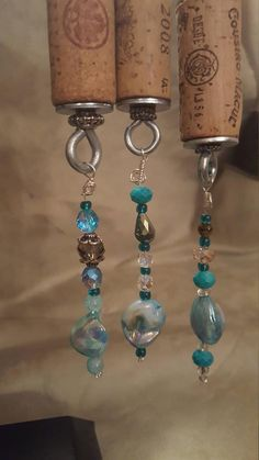 Wine Gifts - Make Your Right Wine Decisions Using Expert Tips Wine Craft, Wine Cork Crafts, Bottle Crafts, Wine Cork Jewelry, Wine Cork Art, Beaded Jewelry, Wine Bottle Charms, Wine Bottles, Wine Cork Ornaments