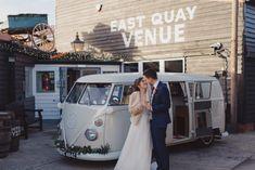 The UK Wedding Awards ¡se revelan los ganadores! Wedding Vans, Wedding Car Hire, Wedding Company, Coastal Wedding Venues, City Wedding Venues, Perfect Weddings Abroad, White Vans, Retro Cars, Alternative Wedding