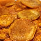 Cinnamon Sweet Potato Chips: These taste good with olive oil and brown sugar.