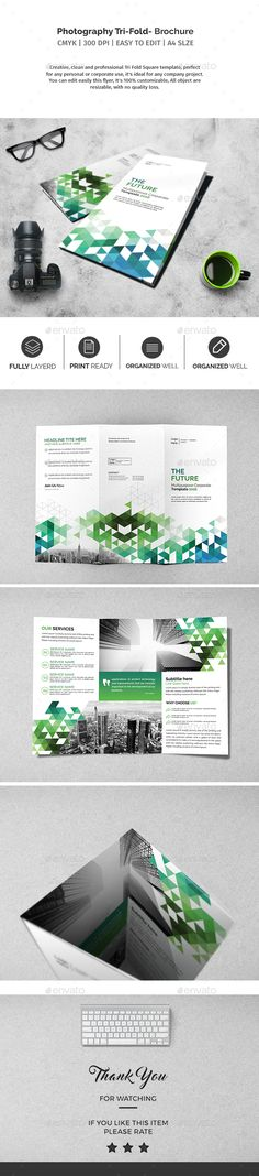 Photography Square Trifold Brochure Template Psd Brochure