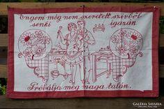 Hímzett konyhai falvédő - engem még Embroidery, Wall, Dashboards, Needlepoint, Walls, Crewel Embroidery, Embroidery Stitches