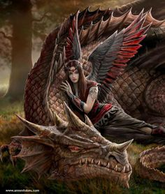 Art by Anne Stokes (Ironshod) Dragon Fantasy Myth Mythical Mystical Legend… Anne Stokes, Magical Creatures, Fantasy Creatures, Fairytale Creatures, Dragon Medieval, Medieval Fantasy, Dragon Oriental, Dragon's Lair, Dragon Pictures