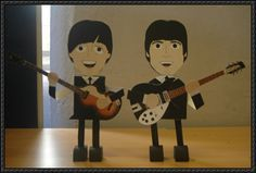 The Beatles - John Lennon and Paul McCartney Free Papercrafts Download