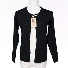 Knit Long-sleeve Sweater Cardigan