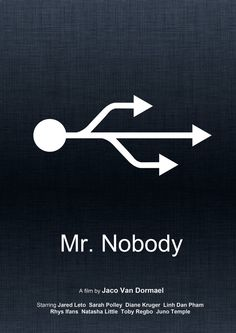 "Minimal movie poster of ""Mr Nobody"" made with Photoshop and Illustrator."