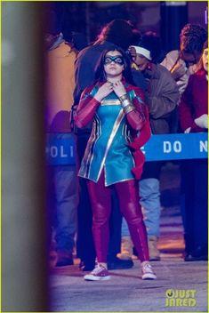 Ms. Marvel set pics reveal Iman Vellani in full costume