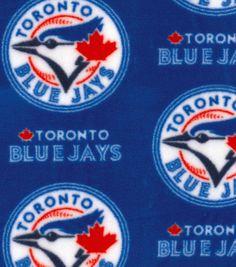 "Toronto Blue Jays Fleece Fabric 58"" - Logo"