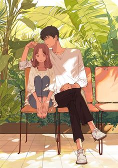 I need playing with u hair ocs anime love couple, art ve ani Manga Couple, Anime Love Couple, Cute Anime Couples, Couple Illustration, Character Illustration, Illustration Art, Aesthetic Art, Aesthetic Anime, Couple Aesthetic