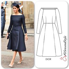 """813c75c104d  sewandstyle  on Instagram  """"The bespoke Dior dress that  duchessofsussex  wore to the RAF celebration is exactly how I had envisioned her wedding  dress ..."""