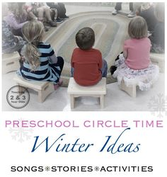 Kids winter activities for circle time - stories, songs and group activities! Teaching 2 and 3 Year Olds