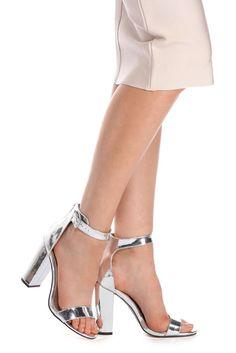 Silver Reflected Beauty Heels   WindsorCloud