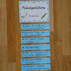 Inspiriert durch @team_farbenfroh habe ich diese Kriterien zur Plakatgestaltung aufgestellt, da nach den Ferien in zwei Klassen die…