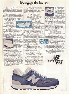 New Balance 1300 - Advertisement 1984