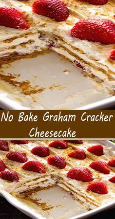 Cold Desserts, Desserts To Make, Sweet Desserts, No Bake Desserts, Sweet Recipes, Delicious Desserts, Best Easy Dessert Recipes, Graham Cracker Dessert, Eat Dessert First