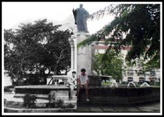 Plaza de Roma, Intramuros, Manila then and now photo SEE MORE: http://www.filipiknow.net/then-and-now-photos-of-manila/