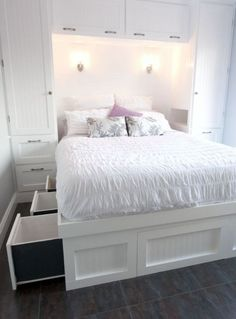 Image result for built in queen bed