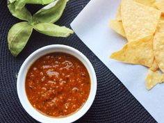 Charred Tomatillo and Yellow Pepper Salsa | Serious Eats : Recipes