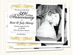 50th anniversary invitations templates | 50th wedding anniversary, Wedding invitations