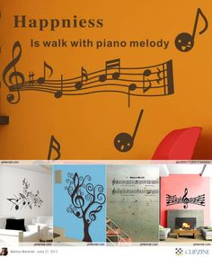 Happiness is walking with piano melody    Musical Murals