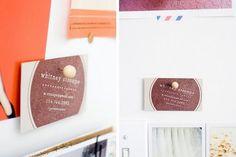 Custom business card stamp