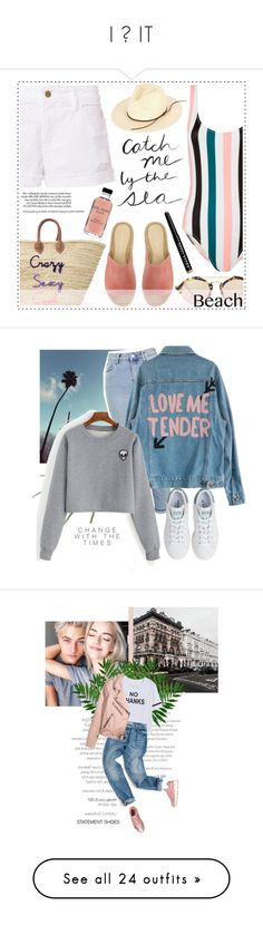 """I ❤ IT"" by ziyaj ❤ liked on Polyvore featuring Solid & Striped, Frame, Illesteva, Mint Velvet, rag & bone, Bobbi Brown Cosmetics, beach, islandgetaway, Topshop and Alöe"
