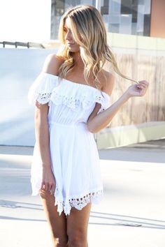 Love it.Lace white dress
