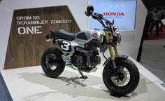 Grom Scrambler Concept Bikes: You Had Us at Knobby Tires, Honda