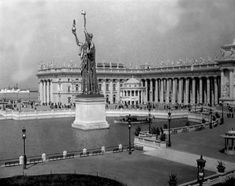 1893 Chicago World's Fair – Statue of Republic – Music Hall and Peristyle Photograph
