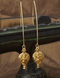 Antique revival goddess earrings