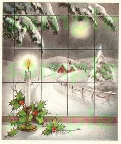 Vintage Christmas Window, digital image, scrapbooking, download, printable on Etsy, $2.21 AUD