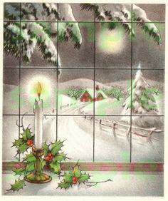 Vintage Christmas Window, digital image, scrapbooking, download, printable on Etsy, $2.21 AUD
