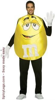 MandMs Yellow Poncho Adult Costume