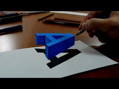 Trick Art Drawing - How to Draw 3D Letter A - Anamorphic Illusion - YouTube