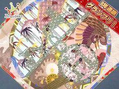 エルメス スカーフ 美品 カレ EX-LIBRIS EN KIMONOS/着物 HERMESの1番目の画像