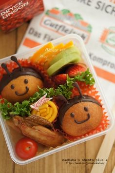 Chocolate Donuts Honeybee Kyaraben Snack Bento by Naohaha ♥ Bento