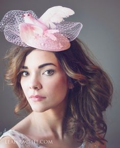 Pink Fascinator Hat, Kentucky Derby Hat, Steeplechase Hat, Royal Ascot Hat, Melbourne Cup Hat, Tocado, by Ruby & Cordelia's Millinery by RubyandCordelias on Etsy https://www.etsy.com/listing/219864073/pink-fascinator-hat-kentucky-derby-hat