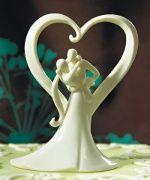 Noivinhos para bolos de casamento em porcelana branca. Lindo, fino e moderno!  www.noivinhostopodebolo.com